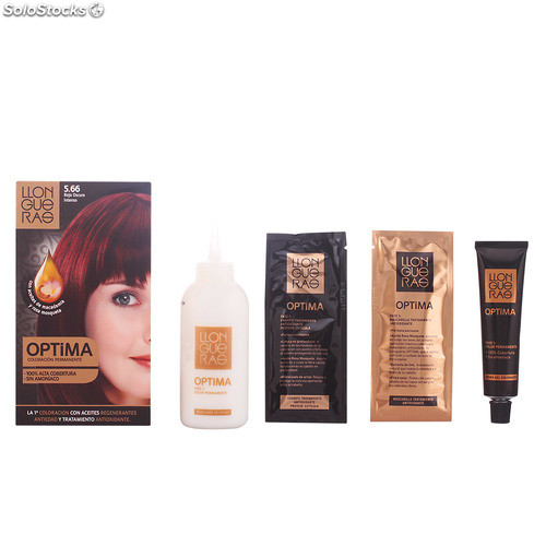 Llongueras OPTIMA hair colour #5.66-deep intense red