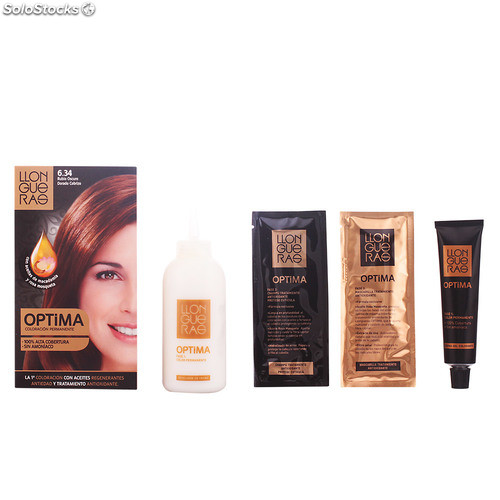 Llongueras OPTIMA hair colour #6.34-golden deep blond