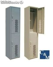 Lockers con puerta diamante
