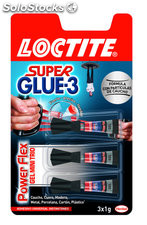 Loctite super glue 3 power flex mini trio 3X1 gr