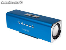 LogiLink Discolady Soundbox mit MP3 Player und FM Radio blau (SP0038B)