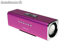LogiLink Discolady Soundbox mit MP3 Player und FM Radio pink (SP0038P)