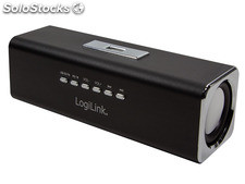 LogiLink Discolady Soundbox mit MP3 Player und FM Radio schwarz (SP0038)