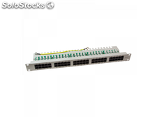 Logilink Patch Panel 19-mounting Cat.3/Voice/ISDN 50 ports, grey (NP0051)