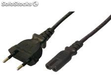 LogiLink Power cord, Euro male to IEC C7 female, 1.80m, black (CP092)