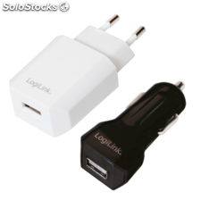 Logilink usb Reise-Set, jeweils 1x usb-Port, 5W/6W (PA0109)