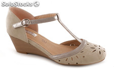 Lolablue Sommere Keilschuhe für Damen. Summer wedge shoes, Lolablue