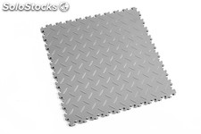 Loseta de resistencia media FORTELOCK LIGHT textura diamante, color gris