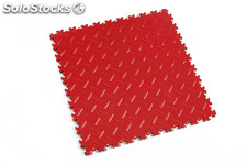 Loseta de resistencia media FORTELOCK LIGHT textura diamante, color rojo rosso