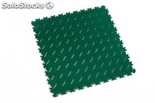 Loseta de resistencia media FORTELOCK LIGHT textura diamante, color verde