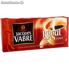 Lot 4X250G cafe moulu regal jacques vabre