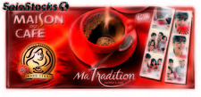 Lot 4X250G cafe moulu tradition maison du cafe