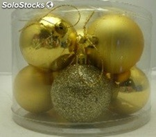 Lot de 10 boules 6CM or