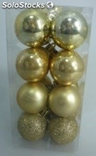 Lot de 16 boules 4CM or