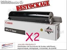 Lot de 2 toner Canon npg-1 genuine noir destockage