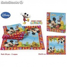 Lot de 20 serviettes en papier Mickey
