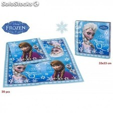 Lot de 20 serviettes en papier Reine des neiges