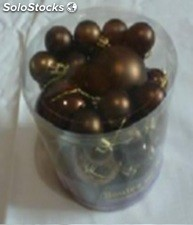 Lot de 30 boules choco cafe