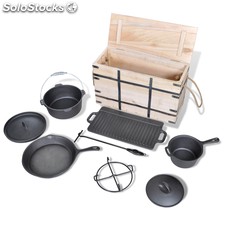 Lot de casseroles batterie de cuisine 9 pcs