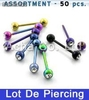 Lot de Piercing Langue