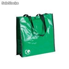 Lote 100 bolsas pp recycle 2 35x34x22cms verdes