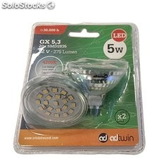 Lote 100 packs de 2 bombillas LED 5W, MR16, 4200K, 275Lm, GU5.3. (200 bombillas)
