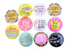 "Lote 11 Chapas ""Frases Wedding"""