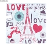 "Lote 20 servilletas ""Love in Paris"""