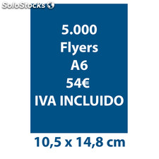 Lote 5.000 Flyers A6