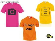lote camisetas estampadas color a 1 tinta