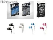Lote de Audifonos Wicked Metallics