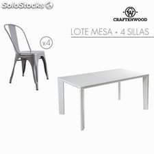 Lote de mesa con 4 sillas by Craftenwood