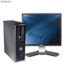 Lotto 10 unità Dell gx755 Intel c2d 2,4 Ghz + monitor 19""