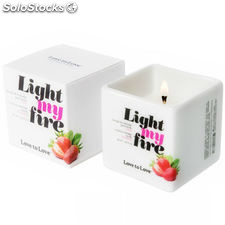 Love to love light my fire vela masaje fresa 80ML