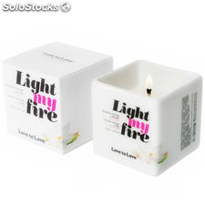 Love to love light my fire vela masaje musk 80ML