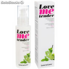 Love to love me tender masaje & efecto calor sabor mojito 100ML