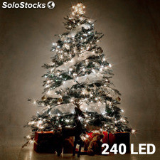 Luces de Navidad Blancas Christmas Planet (240 LED)