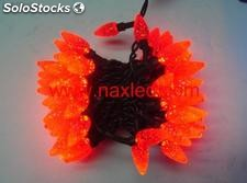 Luces de navidad y fiestas led string light ip65 waterproof strawberry