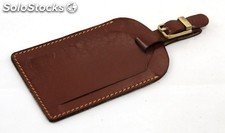 Luggage Tag Brown Vegetable Tanned Cowhide
