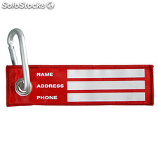Luggage Tag Carabiner , Red