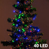Lumières de Noël Multicouleur (40 LED) - Photo 1