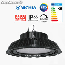 Luminaria LED EVO high-bay 150W. Rendimiento 130Lm/w_Driver Meanwell Dimmable.