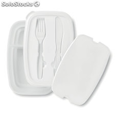 Lunch box et couverts MO8518-06, blanc