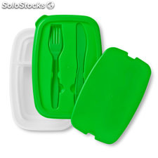 Lunch box et couverts MO8518-09, vert