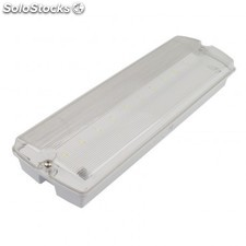 Luz de emergencia led estanca 3w ip65