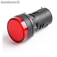 Luz piloto led indicator de señal pilot light 22mm AD26B-22DS Rojo
