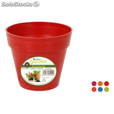 Maceta 10CM bambu - colores surtidos - little garden - 8433774604044 -