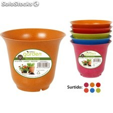 Maceta 13,5CM bambú - colores surtidos - little garden - 8433774604068 -