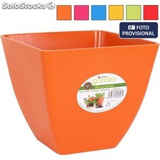Maceta bambu 19X17 cm - colores surtidos - little garden - 8433774608165 -