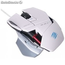 Mad catz r.a.t. 3 gaming mouse blanco